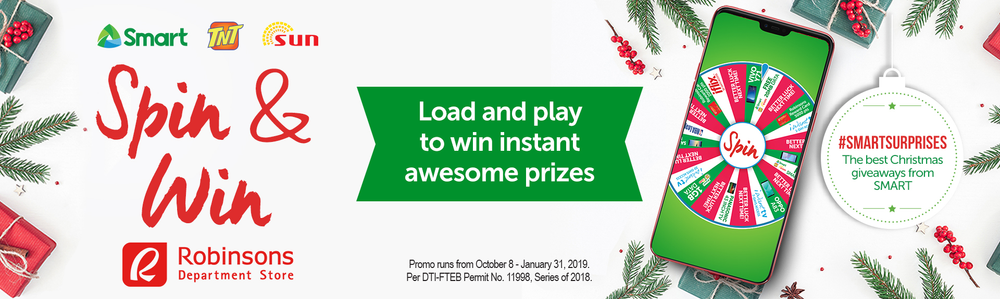 Load at Robinsons Group & Play to Win Instant Prizes!