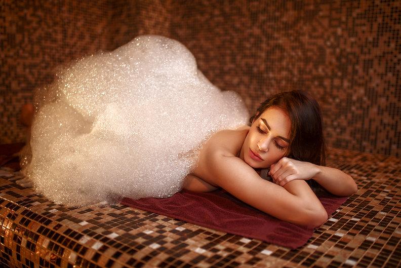 Woman in foam, turkish bath, hamam.jpg