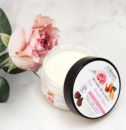 Beurre de karité à la Rose et à l'Amande Douce (75 g)