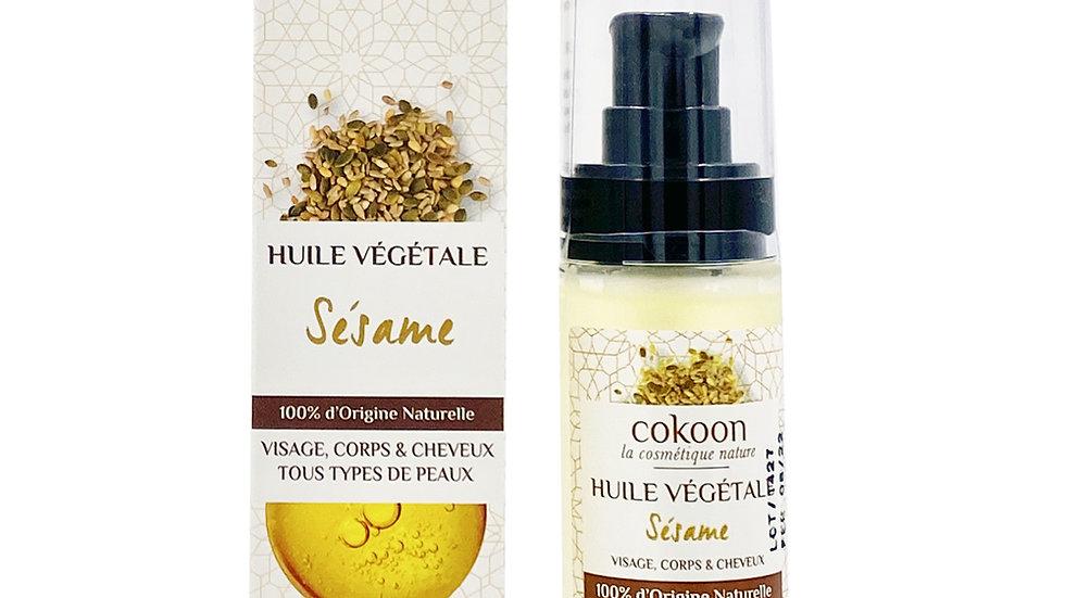 Huile végétale de sésame 100% pure
