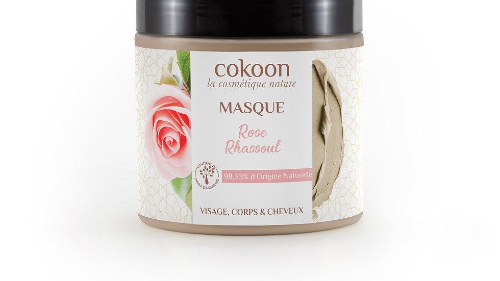 Masque au ghassoul à la rose (300 g)
