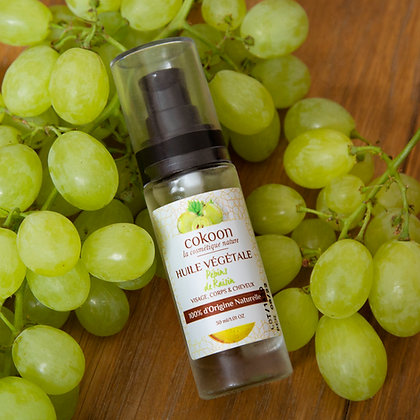 Huile végétale Pépins de Raisin 100 % pure