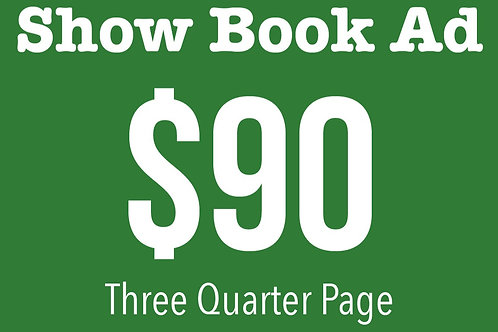 3/4 Page Show Book Ad