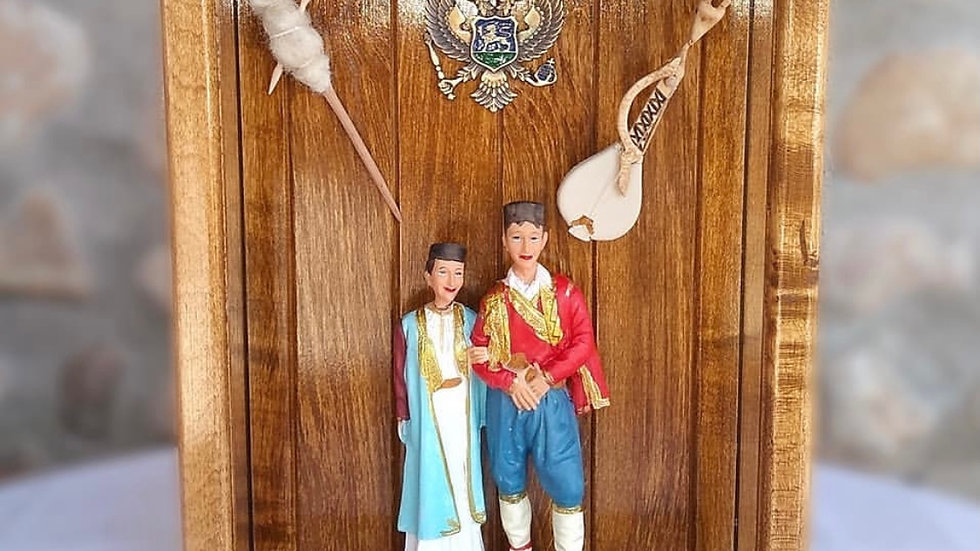 Montenegro couple in traditional clothes