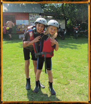 Kids after rafting