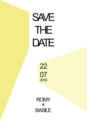 Save the date recto-verso
