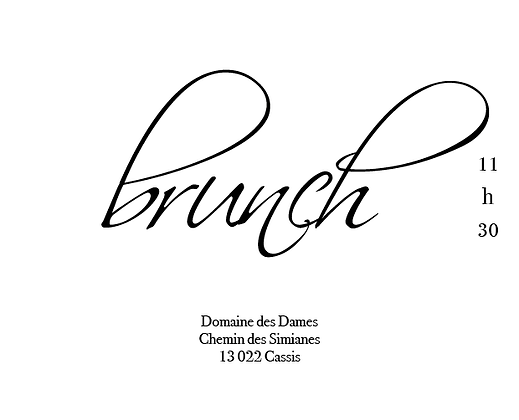 Invitation au brunch recto-verso