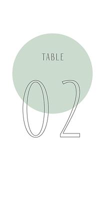 Marqueur de table