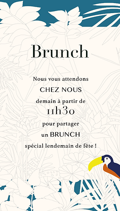 Invitation au brunch
