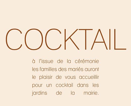 Invitation au cocktail
