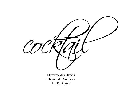 Invitation cocktail recto-verso