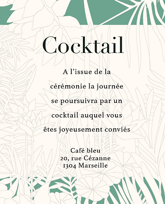 Invitation au cocktail