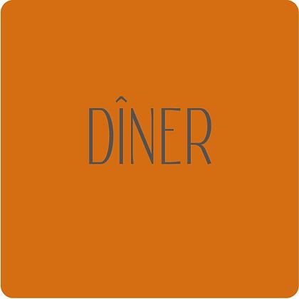 Invitation au dîner recto-verso
