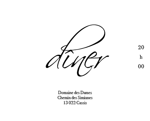 Invitation au dîner recto-verso