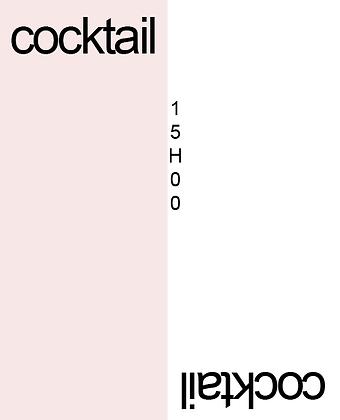 Invitation au cocktail recto-verso