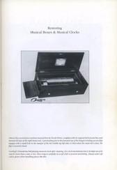 Restoring Musical Boxes Musical Clocks