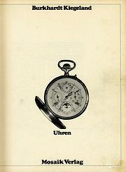 Burkhardt Kiegeland Uhren