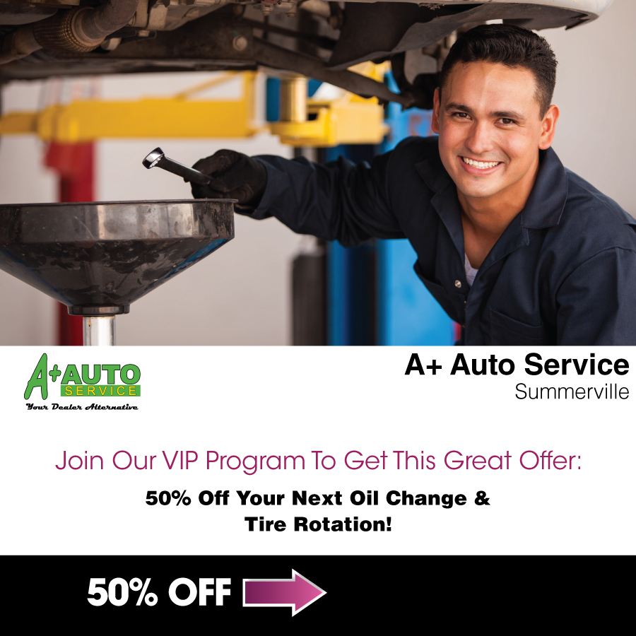 A+-Auto-Summerville---50%-off-oil-change