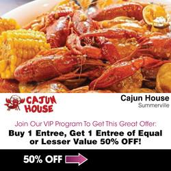 Cajun-House---BOGO-50%-Off-Entree