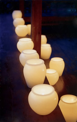 Large Wax Urn Lamps