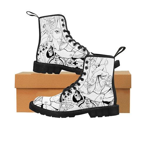 Lucky 13 Women's Canvas Boots