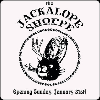 Introducing The Jackalope Shoppe, located in the Crater Cafe. An emporium featuring locally handmade, uniques, & antiques