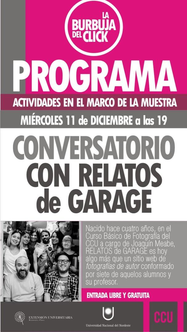 Conversatorio con Relatos de Garage