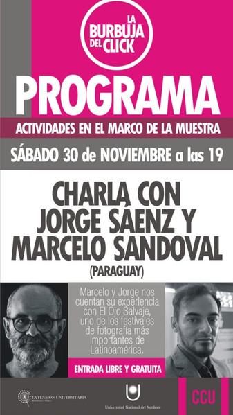 Charla con Jorge Saenz y Marcelo Sandoval