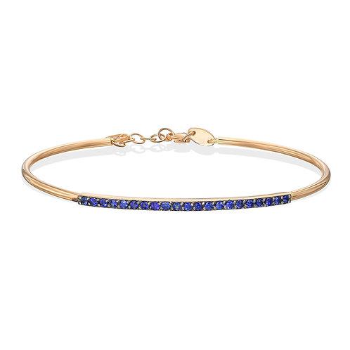 Blue Sapphire Bangle