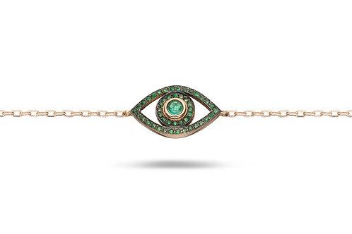 Mini Eye Bracelet- Emerald