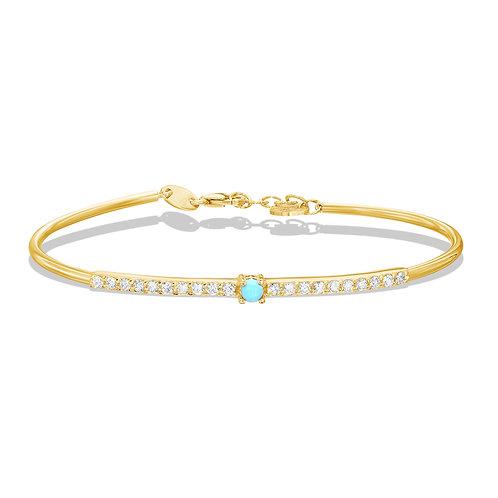 Diamond Bangle & Turquoise