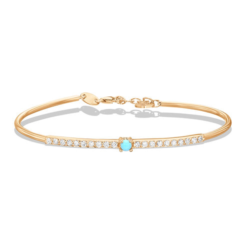Diamond Bangle & Turquoise