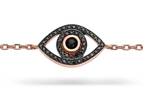 Mini Eye Bracelet - Black Diamonds