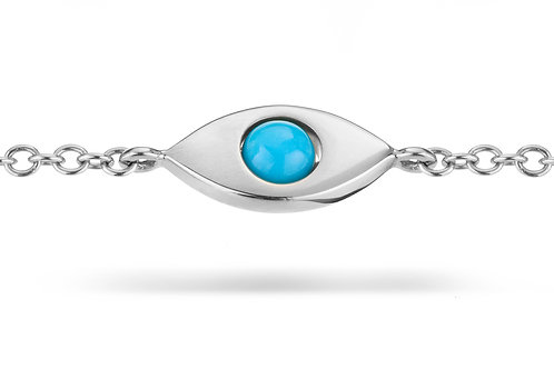 EyeBall Bracelet - White Gold