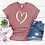 Thumbnail: Valentine's Day Heart T-Shirt - Womens Shirt - Graphic Tee