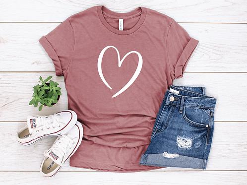 Valentine's Day Heart T-Shirt - Womens Shirt - Graphic Tee