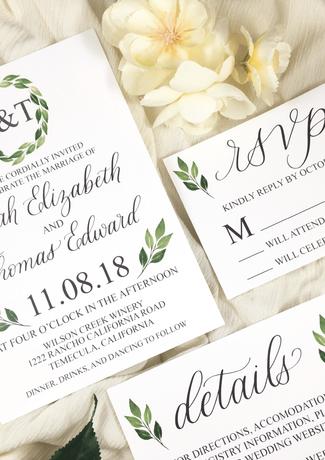 greenery-wedding-invitation