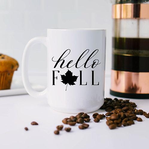 Hello Fall Coffee Mug - 11 or 15 ounce