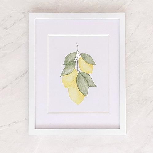Lemon Art Print | Lemon Home Decor | Lemon Printable | Digital Download