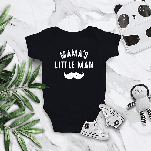 Mama's Little Man Baby Bodysuit