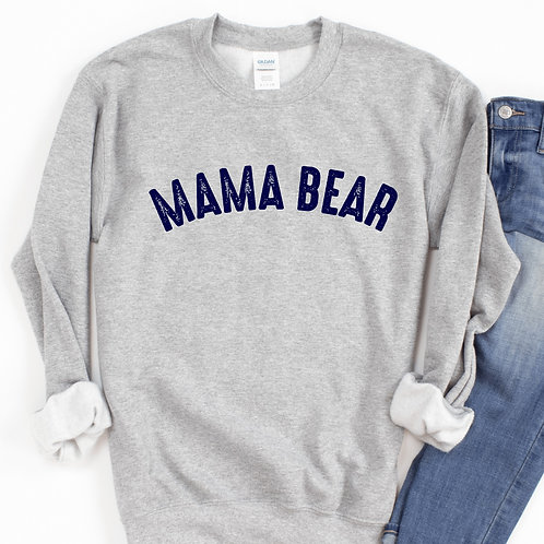 Mama Bear Sweatshirt - Gray - Loose fit