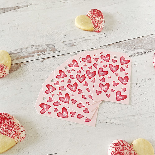Candy Heart Gift Tags