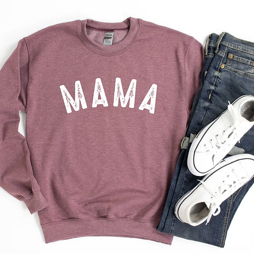 Mama Sweatshirt - Heather Maroon - Loose fit