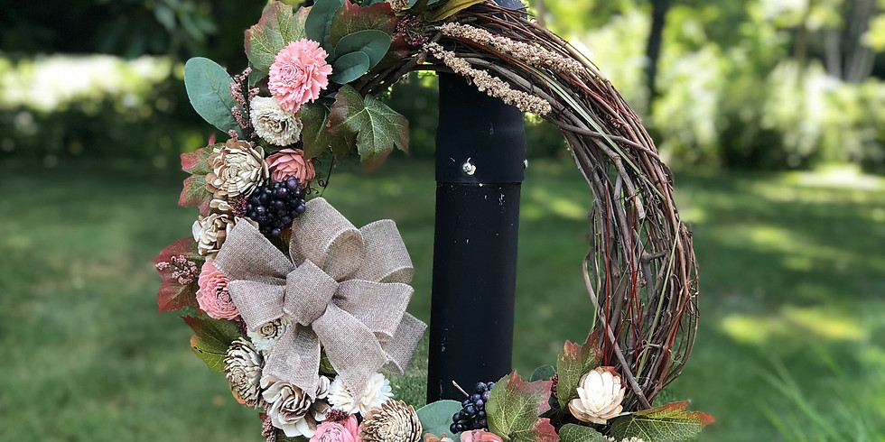 CANCELLED - Wood Flower Spring Wreath Class