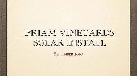 Solar Panel Installation at Priam Vineyards