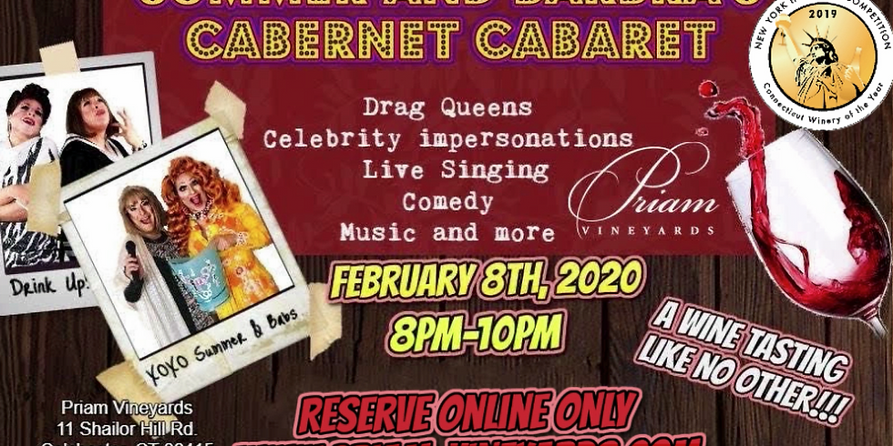 SOLD OUT!!  Cabernet Cabaret-An Interactive Wine Tasting