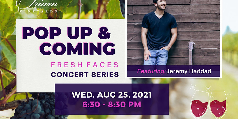 Pop Up & Coming Concert: JEREMY HADDAD