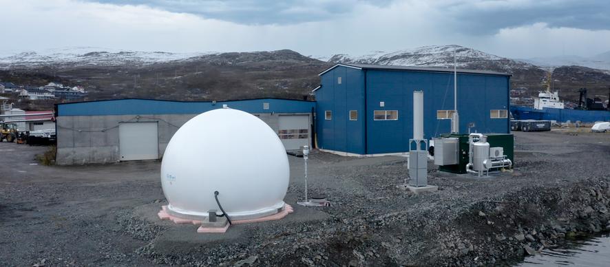 Nytt Antec Biogas anlegg i Båtsfjord