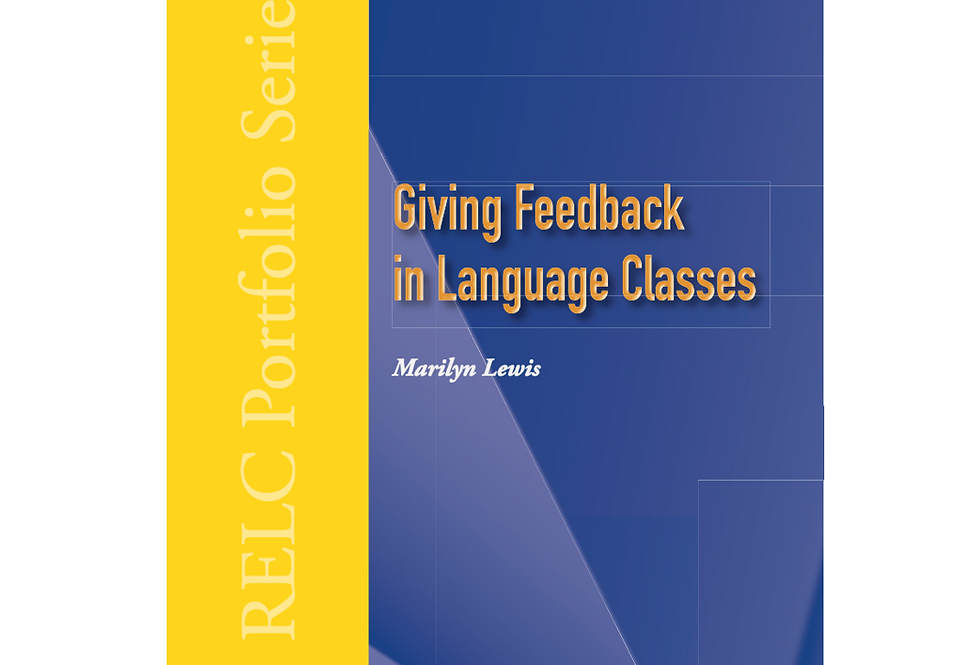 Giving Feedback in Language Classes