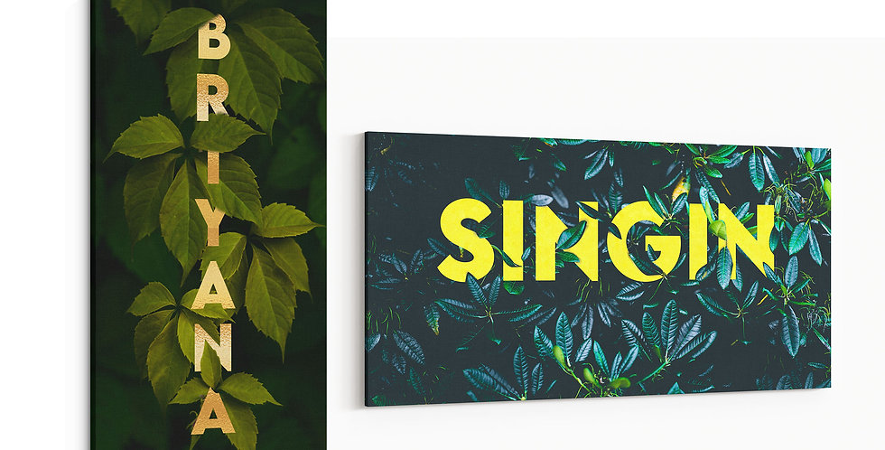 Canvas Name Art